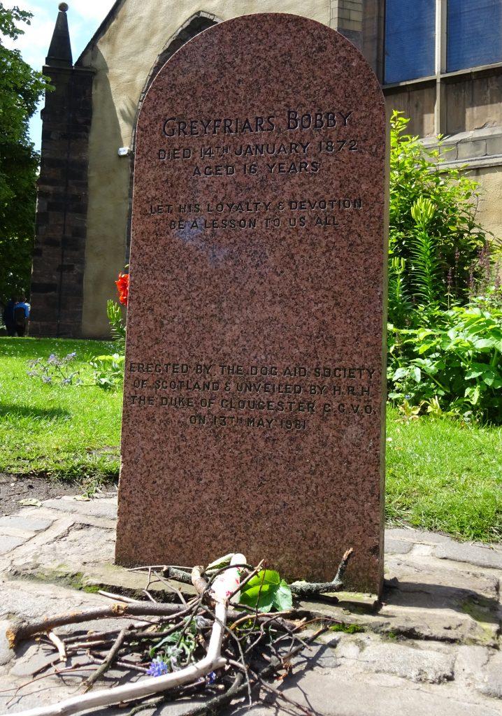Grave of Greyfrairs Bobby On Sandemans Edinburgh Tours