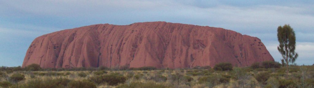 Uluru in the desert