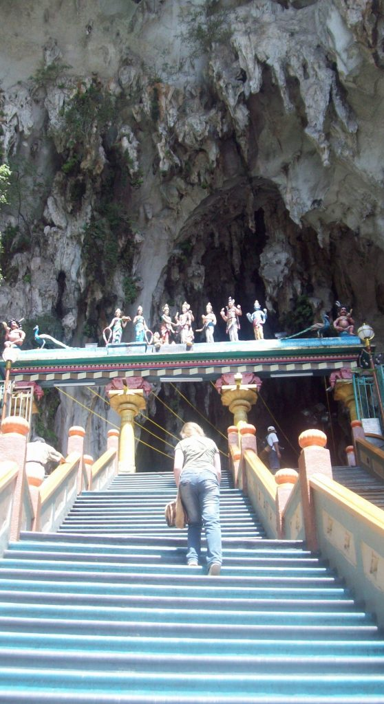 Natpacker At Batu Caves - The Hard Climb