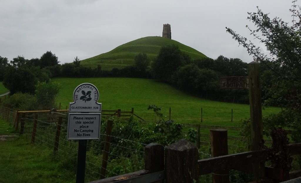 Glastonbury Tor From Wellhouse Lane Path