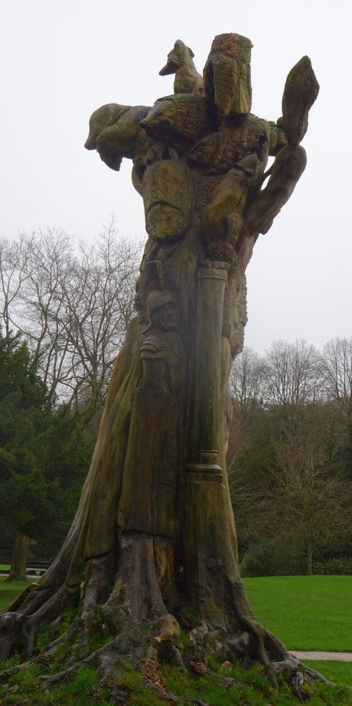 Weird Tree Sculpture-Pavillion Gardens