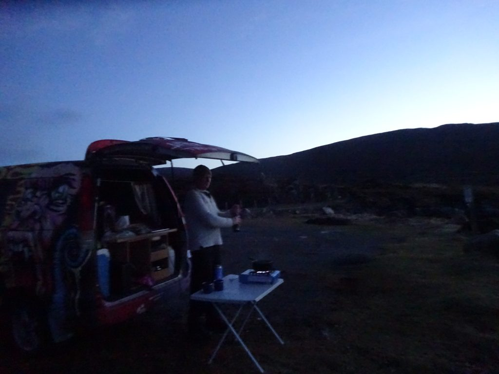 Camping On West Cost Of Harris