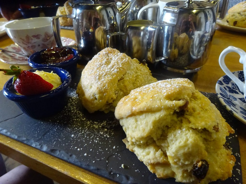 Cream Tea (Scones And Coffee) In Mrs Dale's Pantry
