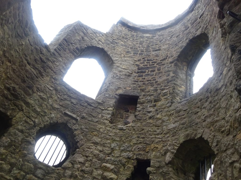 Inside The Tower At Mow Cop Castle