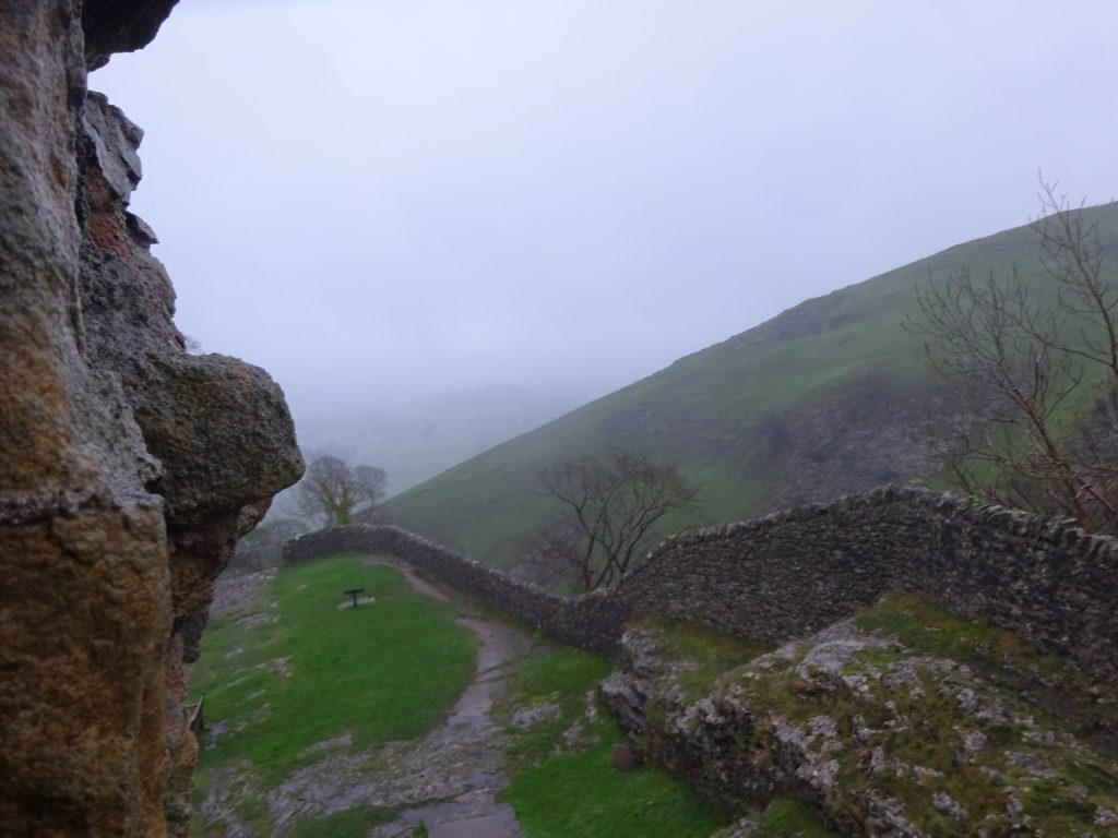 Looking Out From The Keep At Peveril Castle