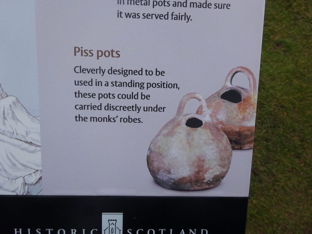 Piss Pots Melrose Abbey