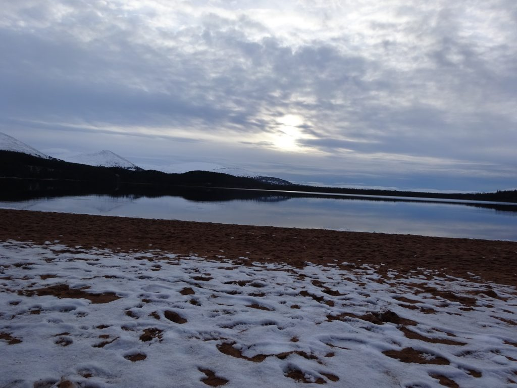 Snow And Sand At Loch Morlich