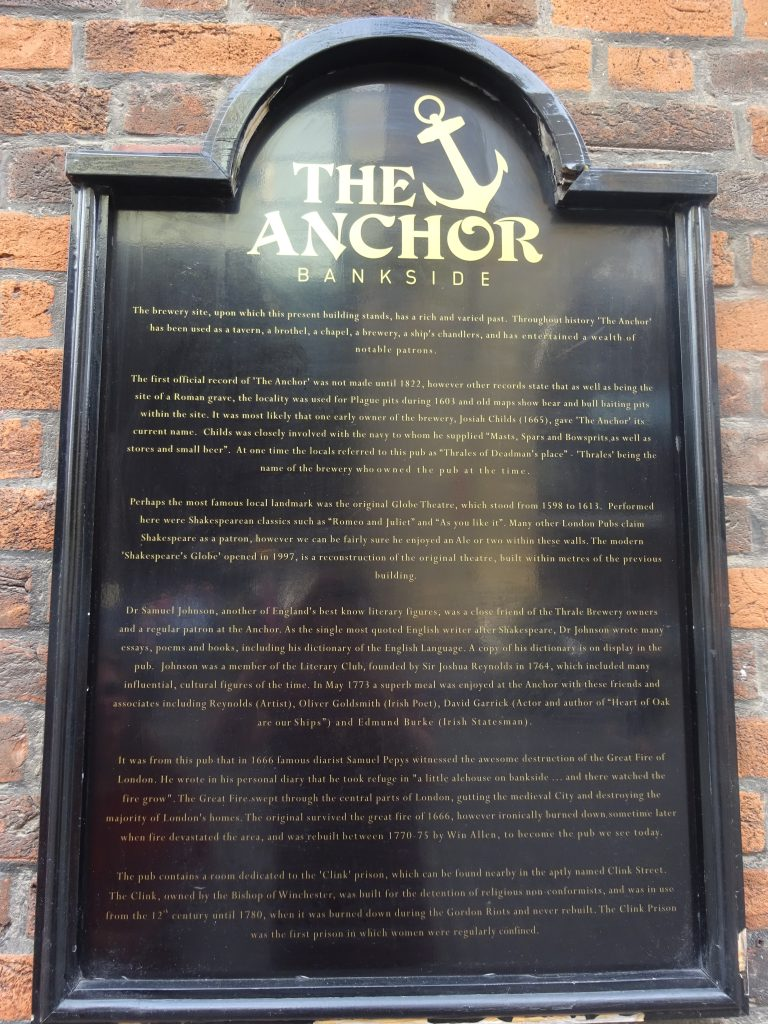 Sign Outside The Anchor