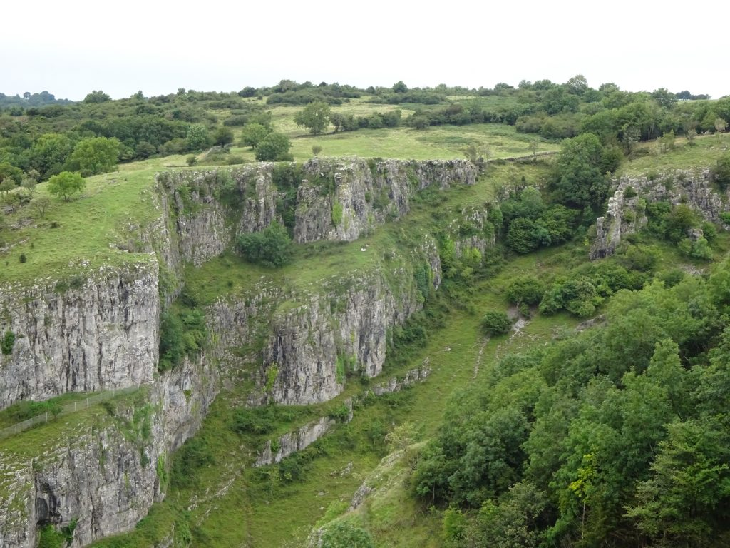 Cheddar Gorge From The Gorge Walk