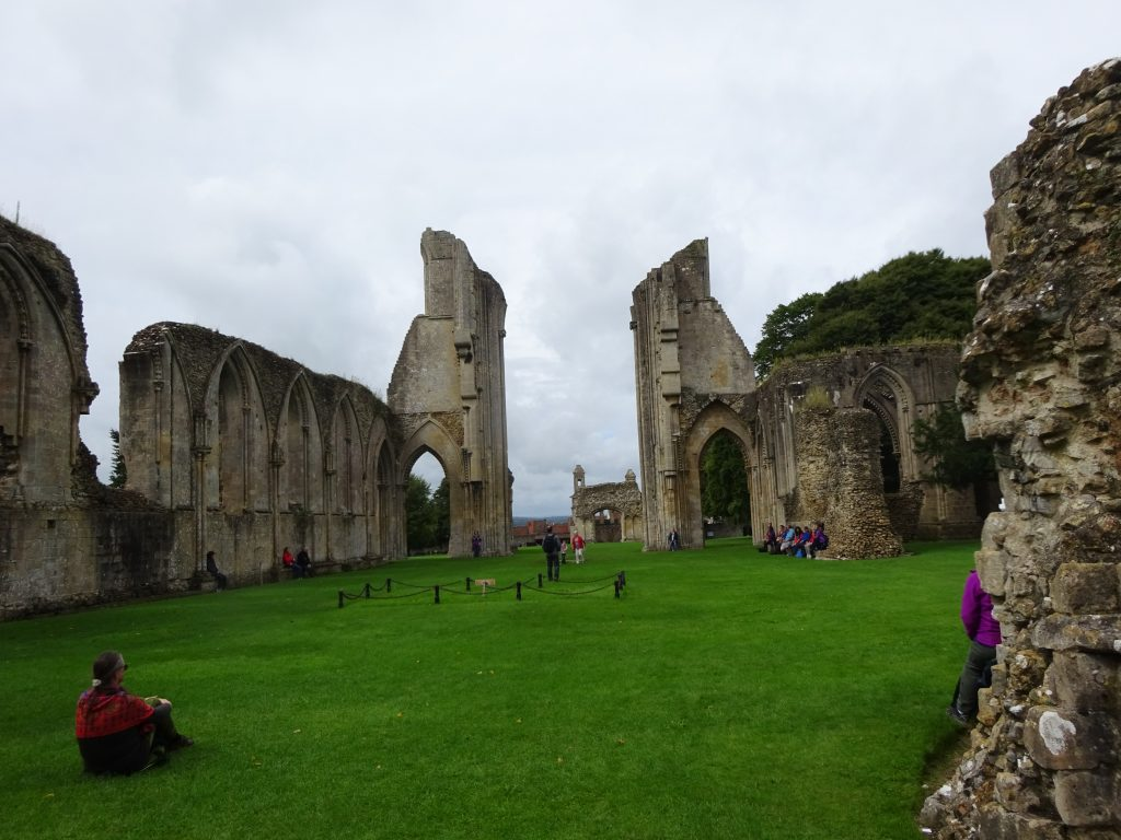 Inside Glastonbury Abbey