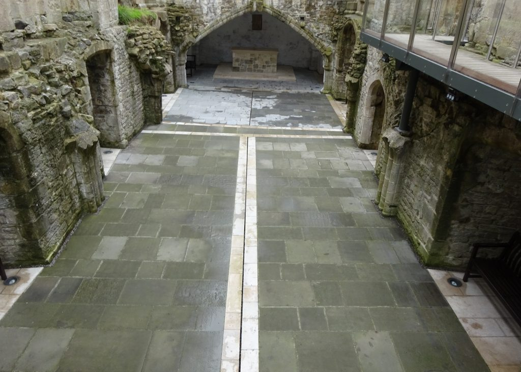 The Crypt In The Ladys Cathedral - Glastonbury Abbey