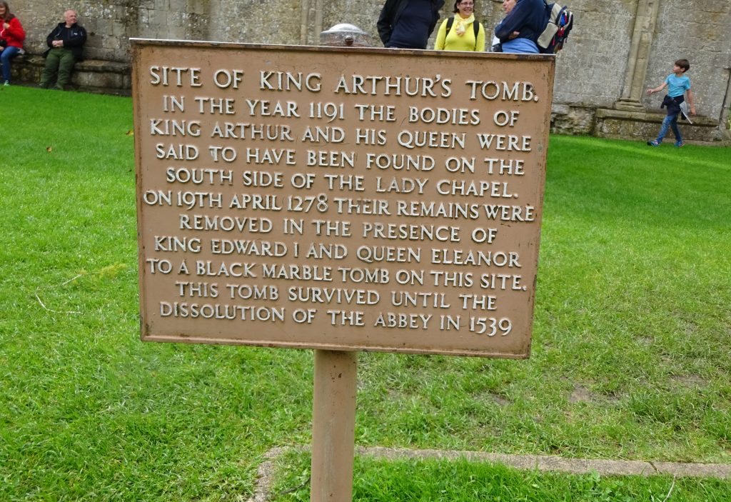 The Site Of King Arthurs And Queen Guineveres Tomb