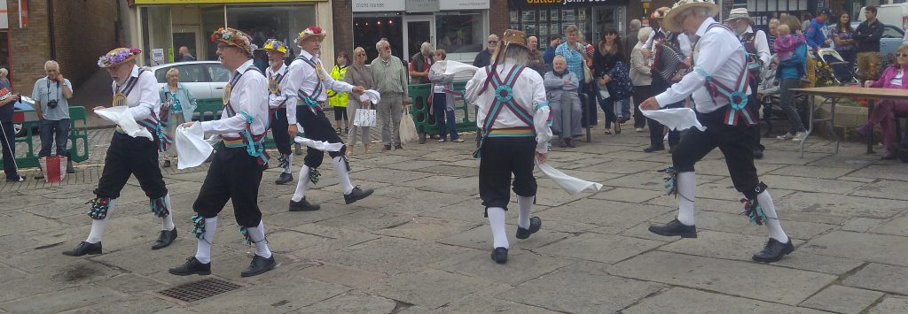 Morris Dancing On The Cobbles