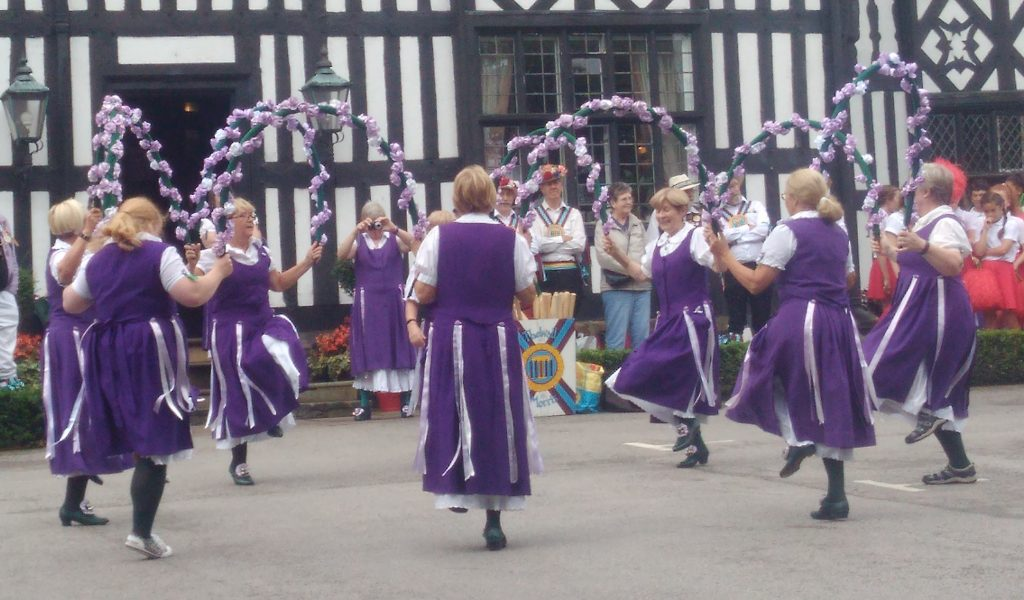 Morris Dancing Outside The Old Hall
