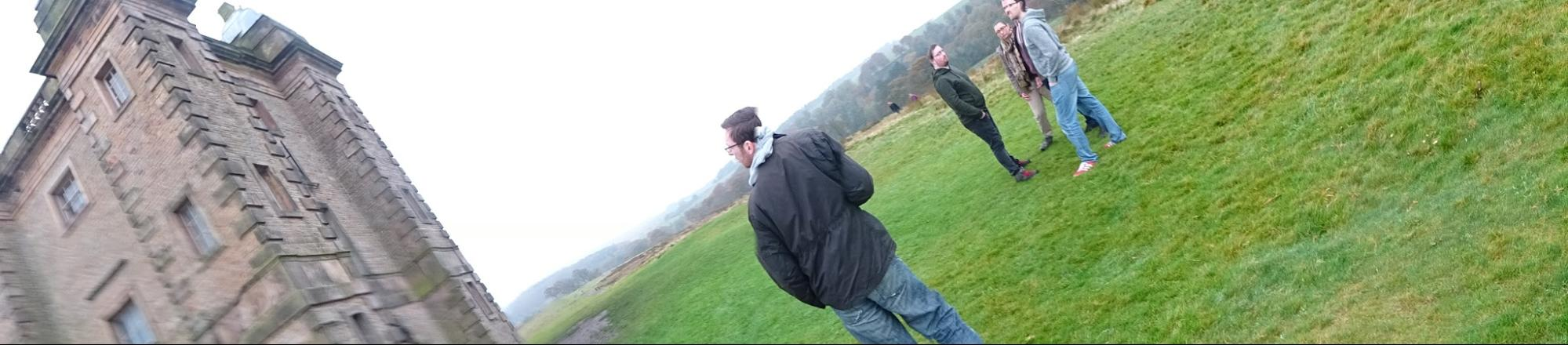 Adam Admiring the Lyme Park Cage
