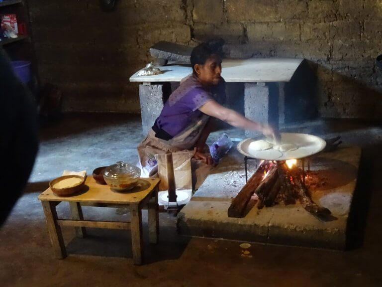 Zinacantan Woman Making Tortillas