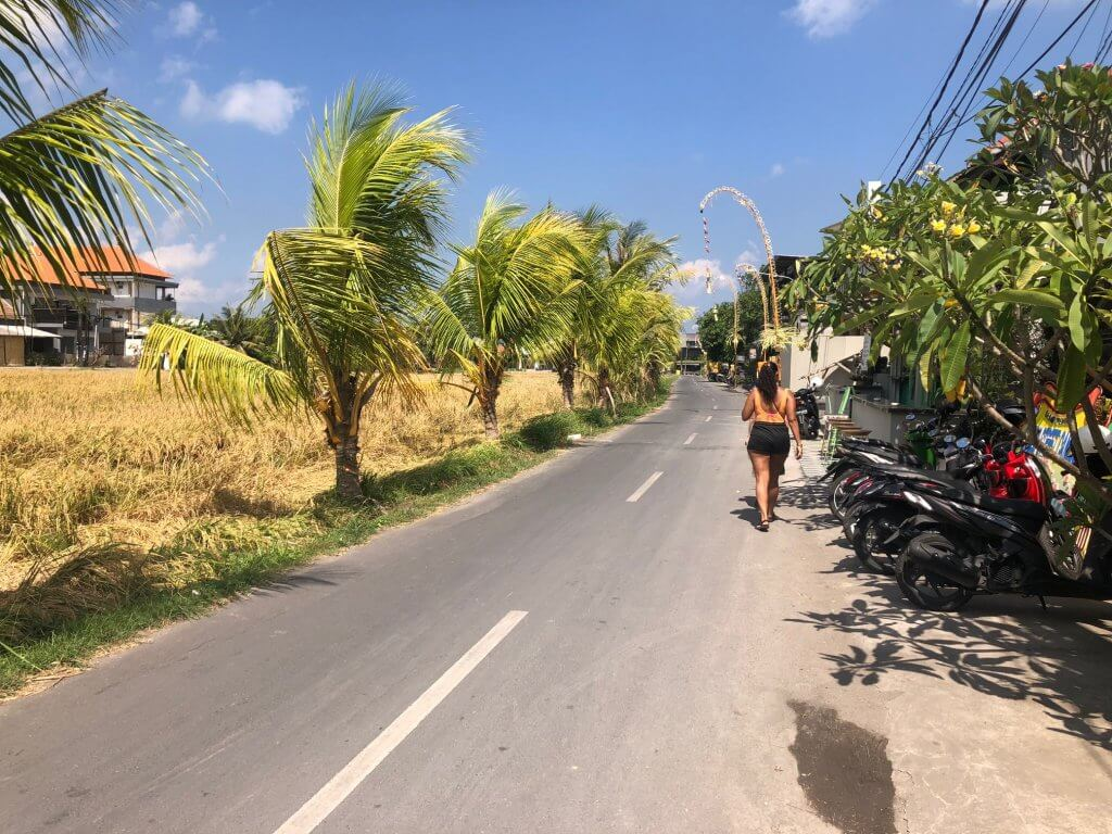 road in Canggu