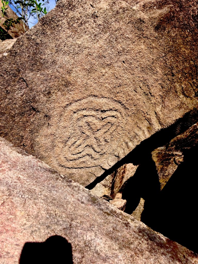 A Hidden Petroglyph On Mask Hill