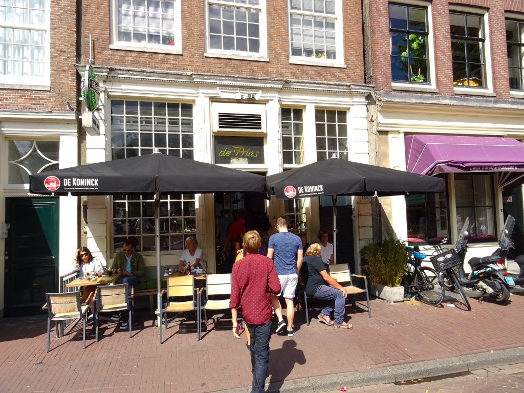 Going Into Café de Prins at the Start of The Jordaan District With Amsterdam Food Tours