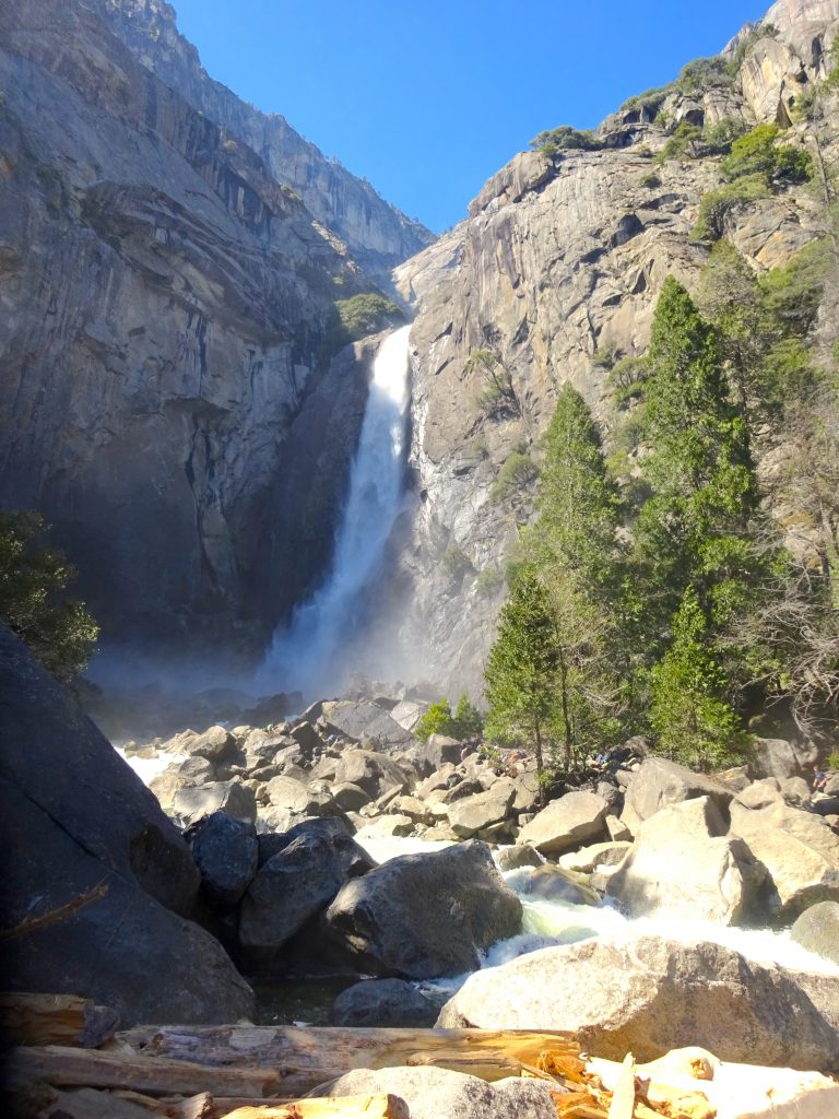 Lower Yosemite Fall From Near The Bridge
