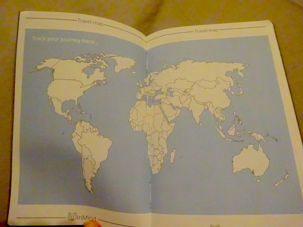 World Map In The Backpacker Logbook