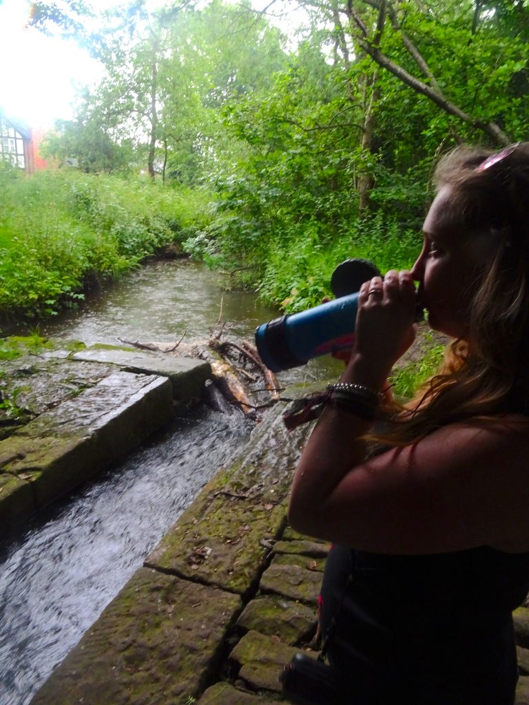 Drinking From The Liberty Water Bottle