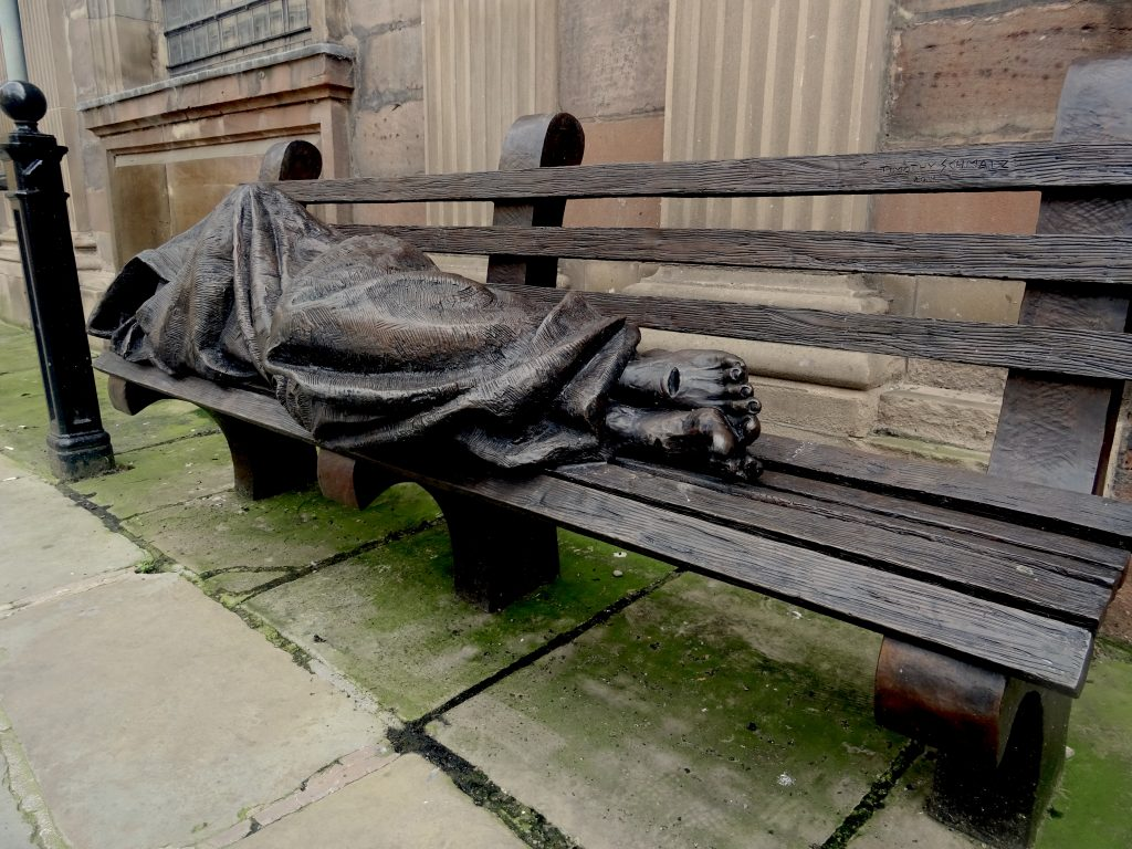 The Homeless Jesus Statue