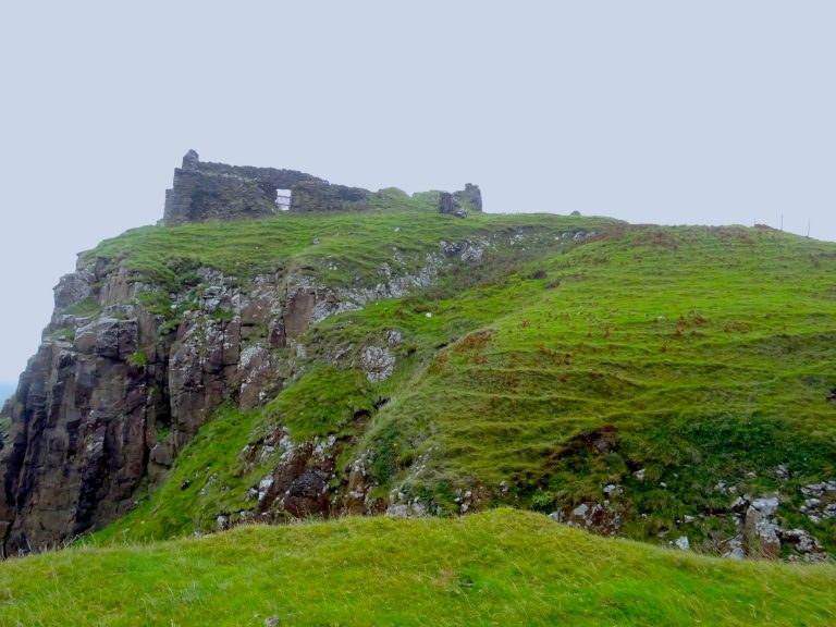 The View Of Duntulm Castle From Below