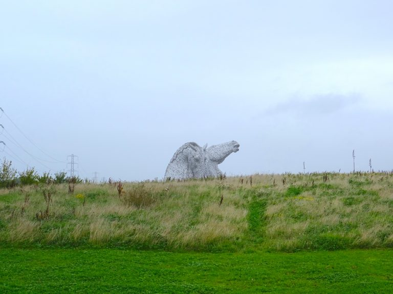 The View Of The Kelpies Form The Carpark
