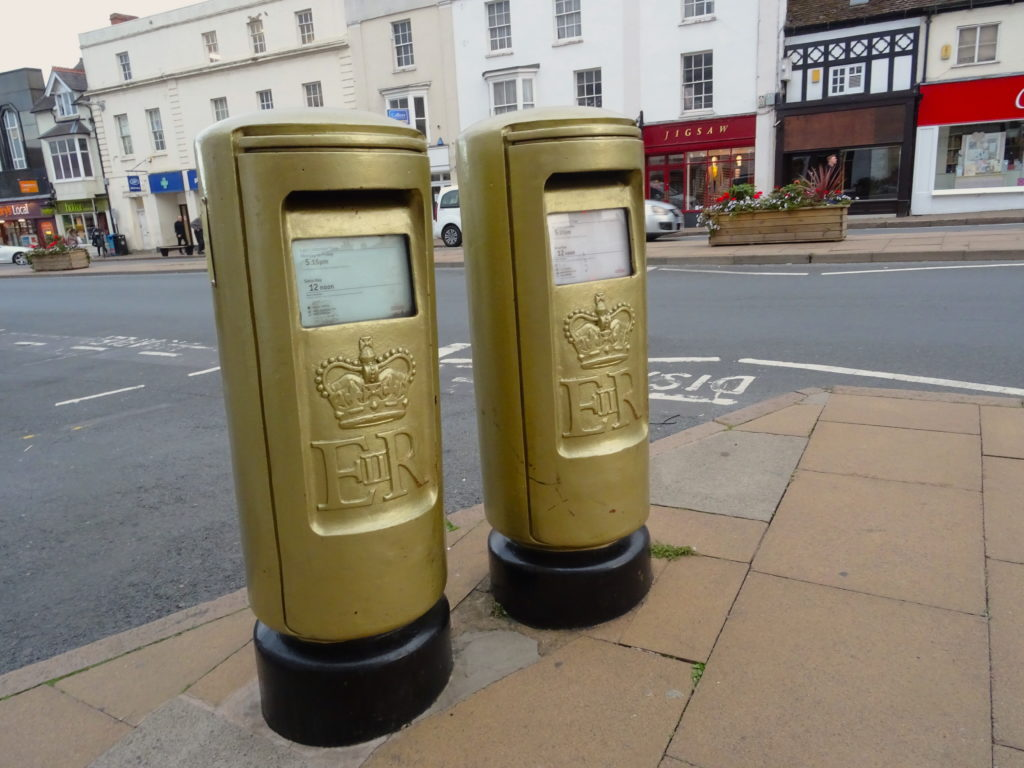 Stratford-Upon-Avon Golden Post Boxes