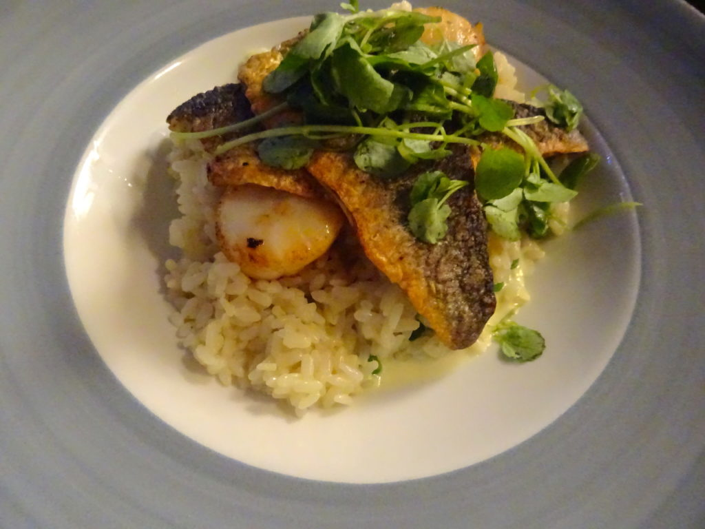 Seabass And Scallop Risotto At The Dirty Duck