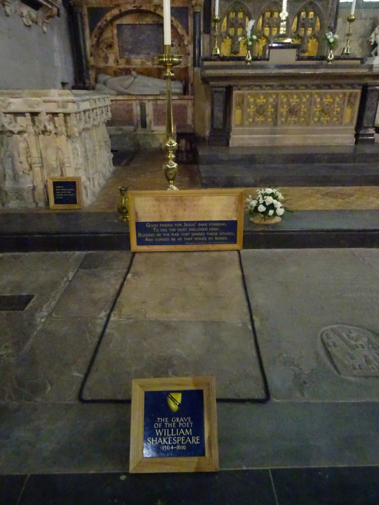 Shakespeare's Grave At Holy Trinity