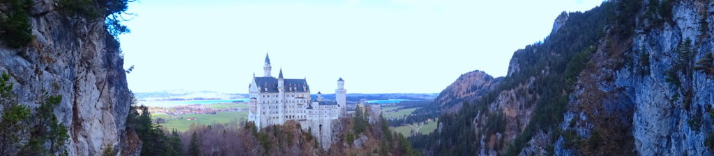 Neuschwanstien Castle Panoramic