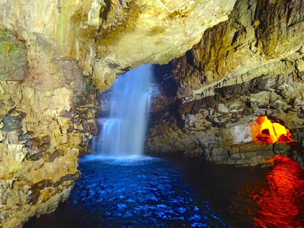 Waterfall In Smoo Cave