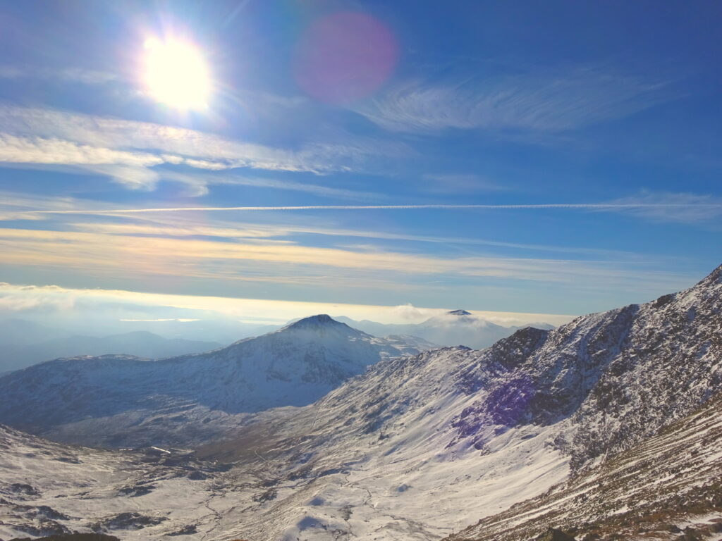 Snowdon In The Snow And Clear Skies