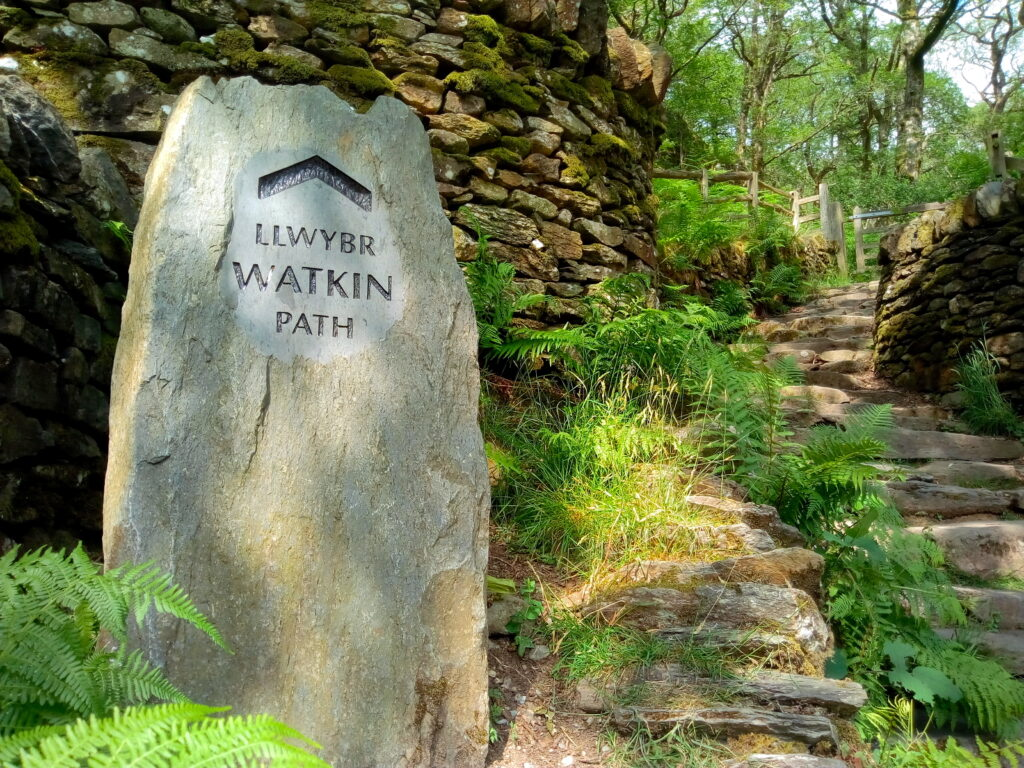 Way Marker At The Start Of The Watkin Path