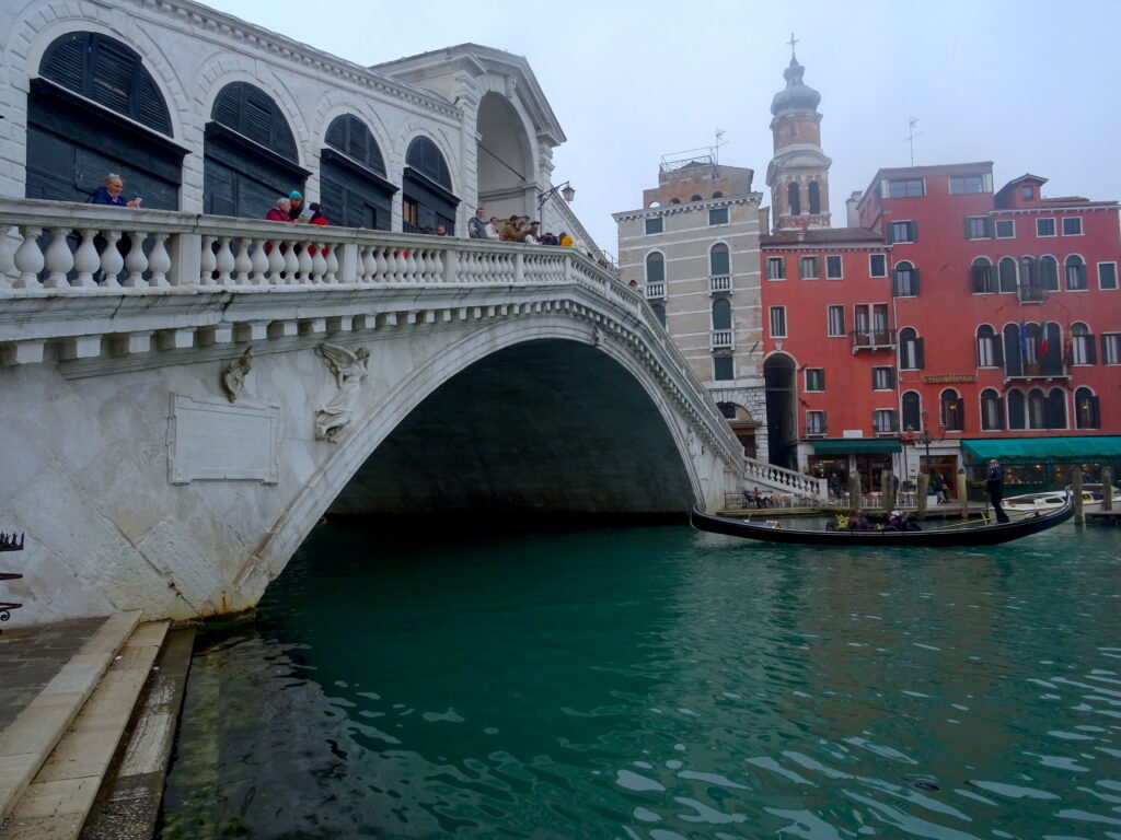 View Of Rialto Bridge From The Side