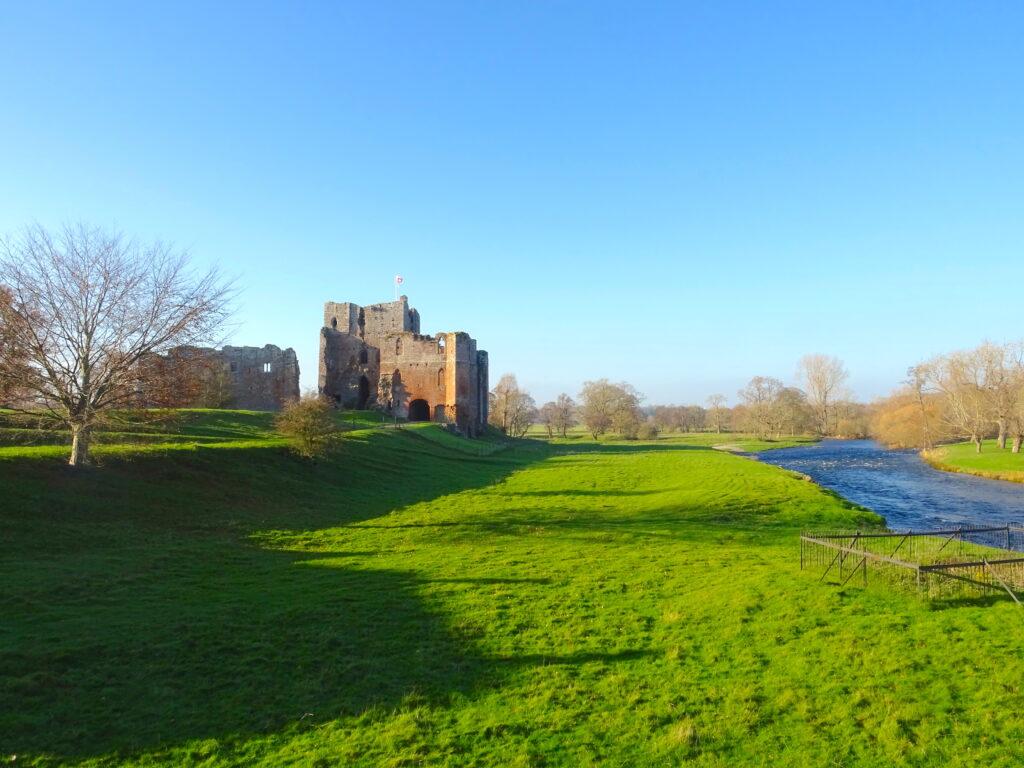 Castle Ruin Next To A River