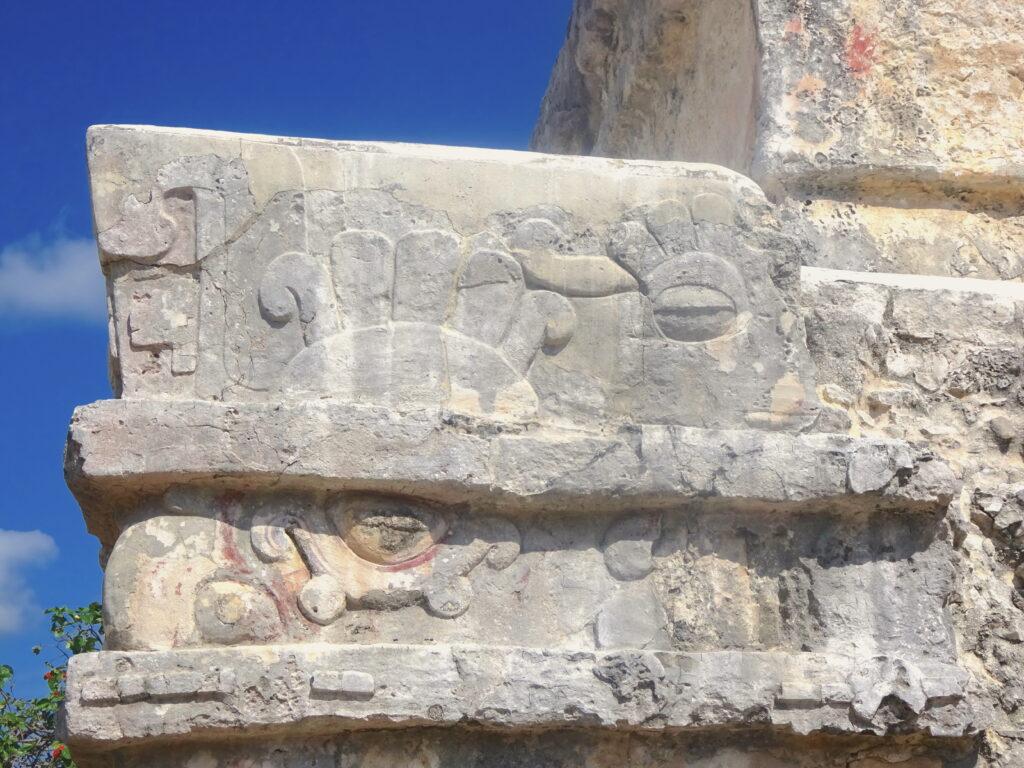 Carving On One Of The Temples In Tulum