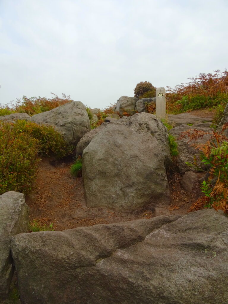 Rocky Path With Gritstone Trail Way Marker