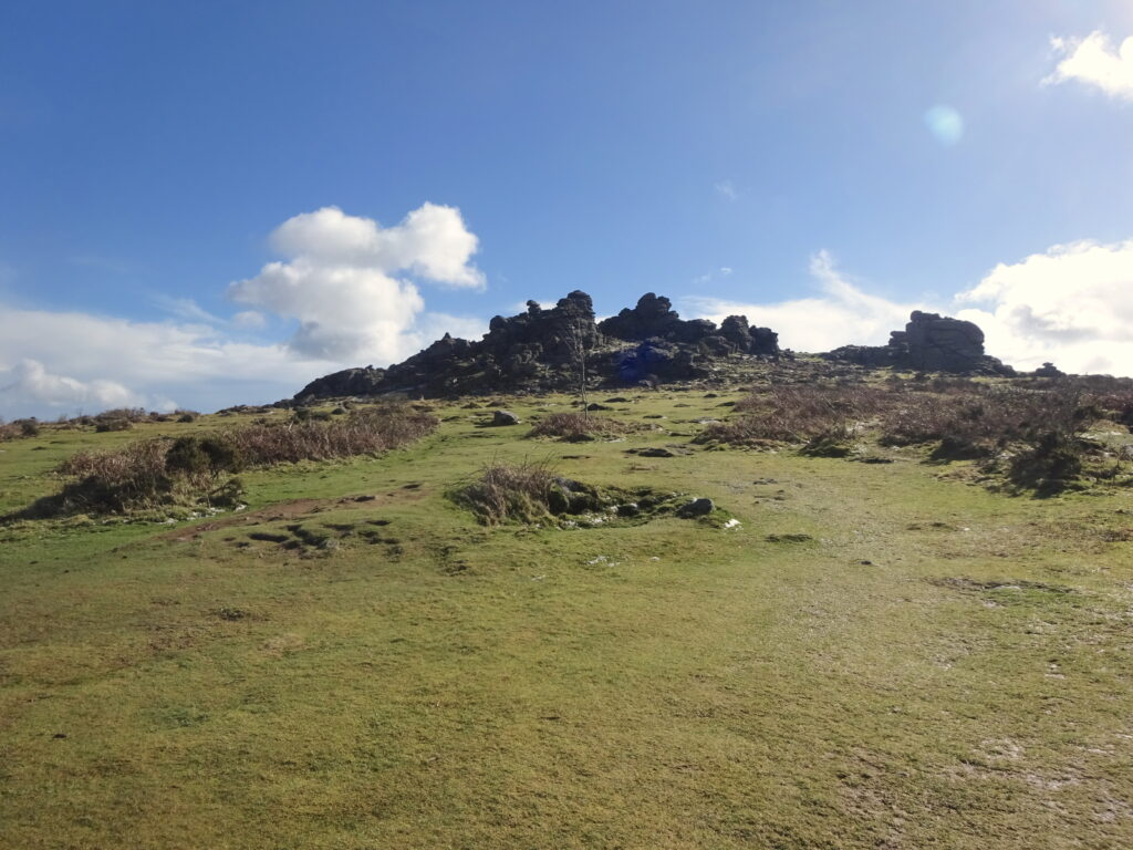 View Of The Rocky Outcrop Of Hound Tor