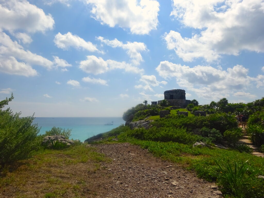 Mayan Ruin On the Edge Of Cliff With Sea View
