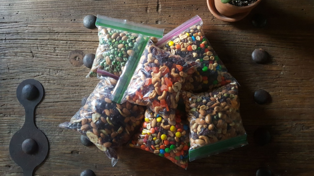 Bags Of Homemade Trail mix