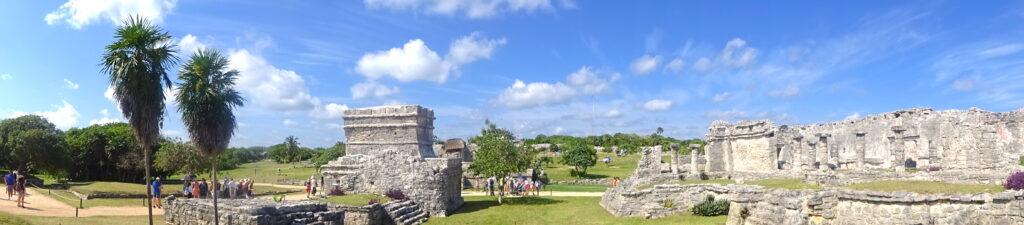 Panoramic Of Tulum Mayan Ruins