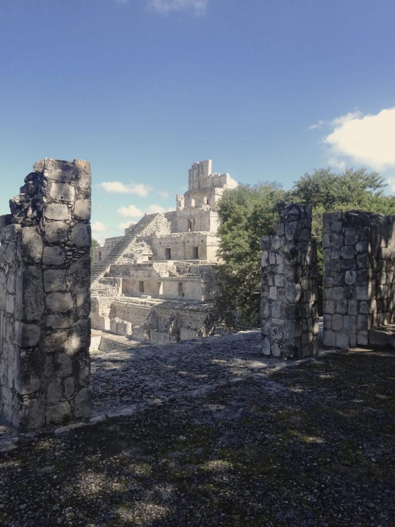 Edzna Mayan Ruins Pyramid