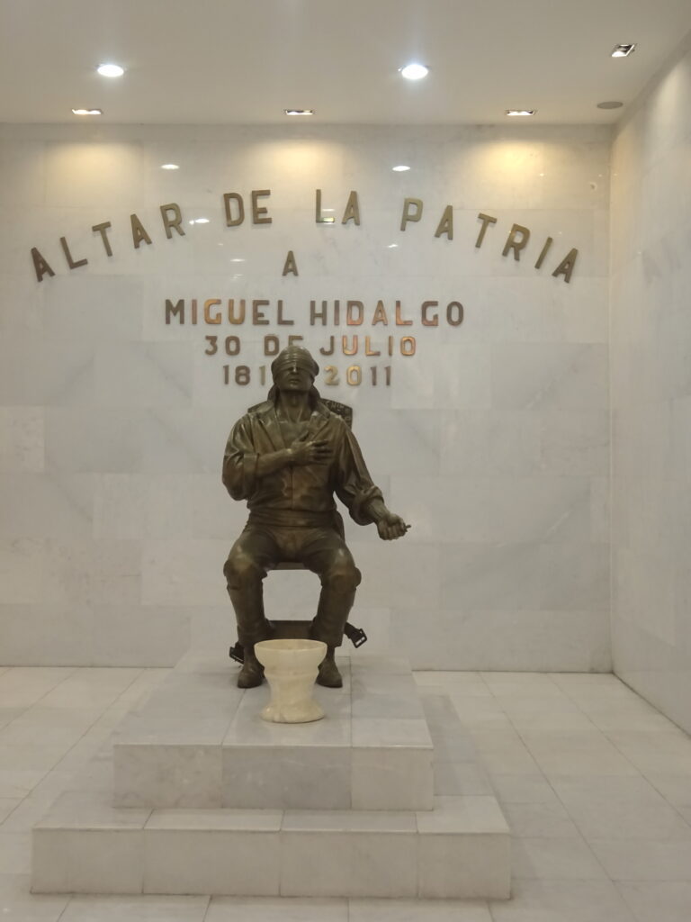 Memorial Showing Hidalgo Being Executed