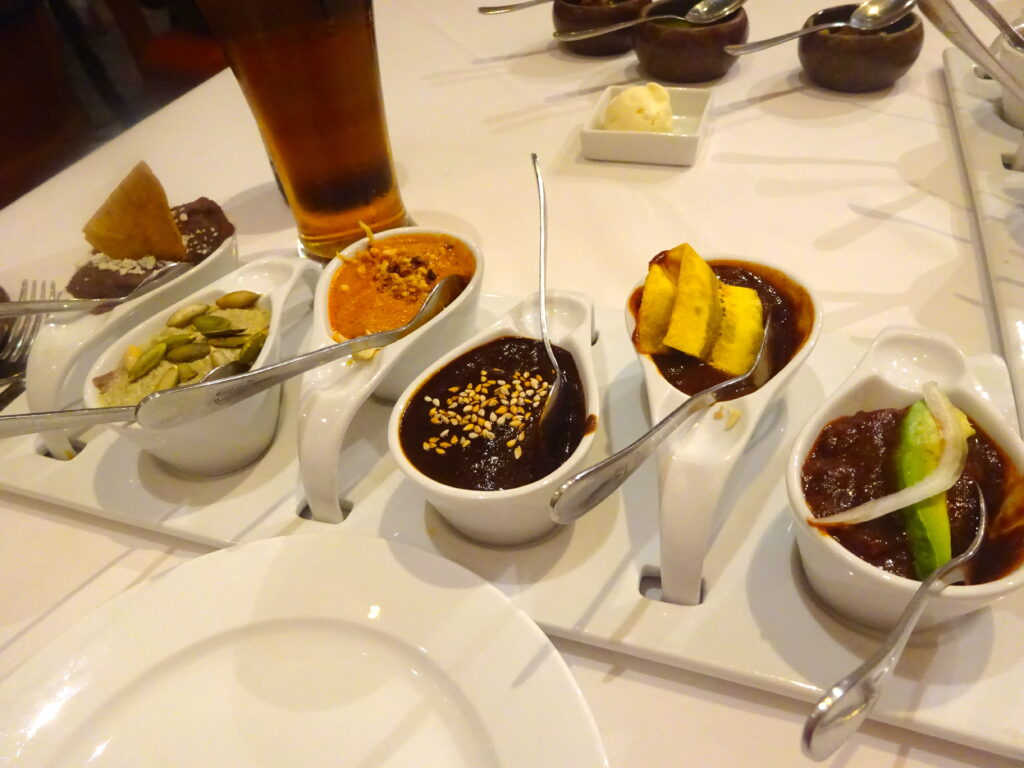 Tasting Selection Of Mole