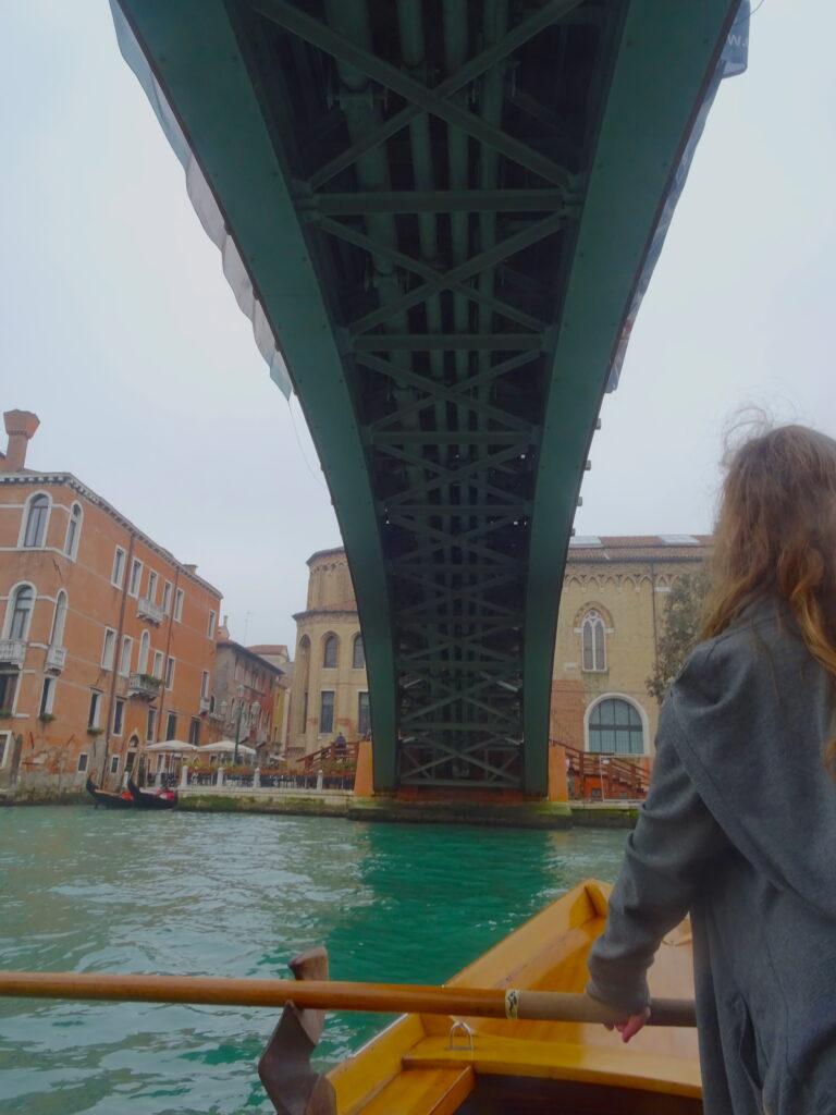 Under Ponte Dell'Accademia In Boat