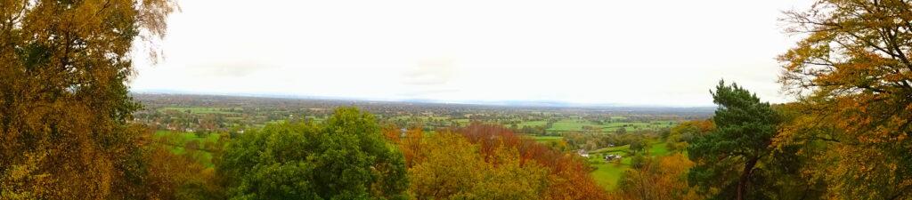 Panoramic Views Of The Cheshire Plains