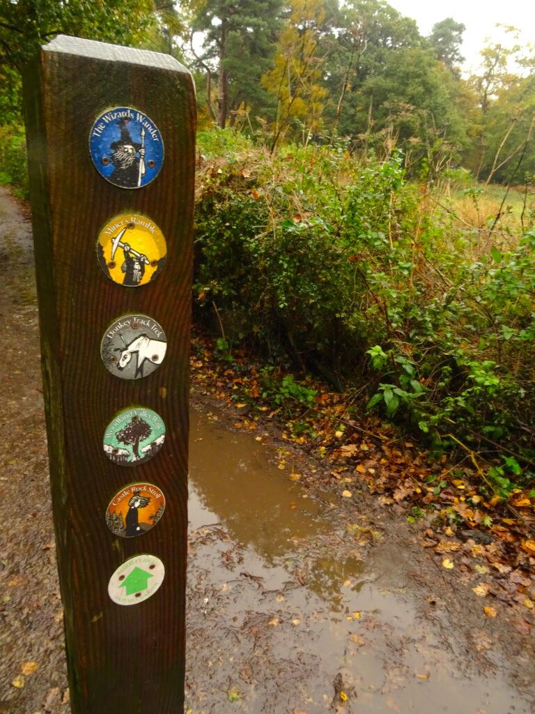 Way Marker Of Several Walks